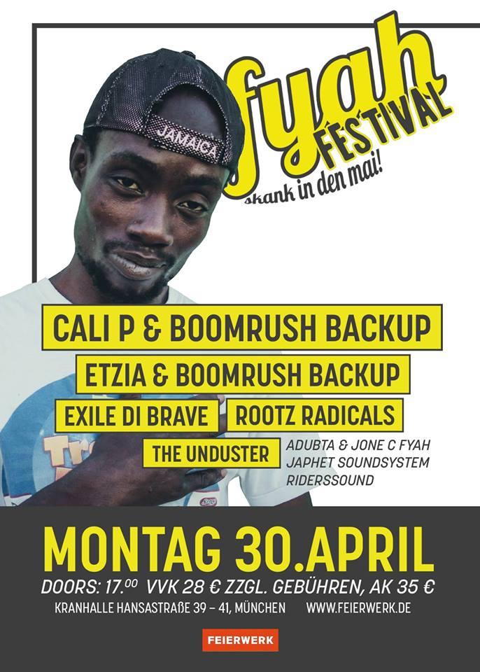 CALI P @ DE – Munich – Fyah Festival | Munich | Bavaria | Germany