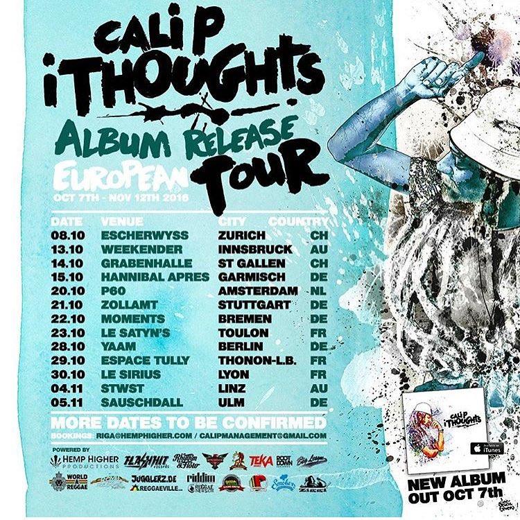 ITHOUGHTS ALBUM RELEASE – EUROPEAN TOUR 2016
