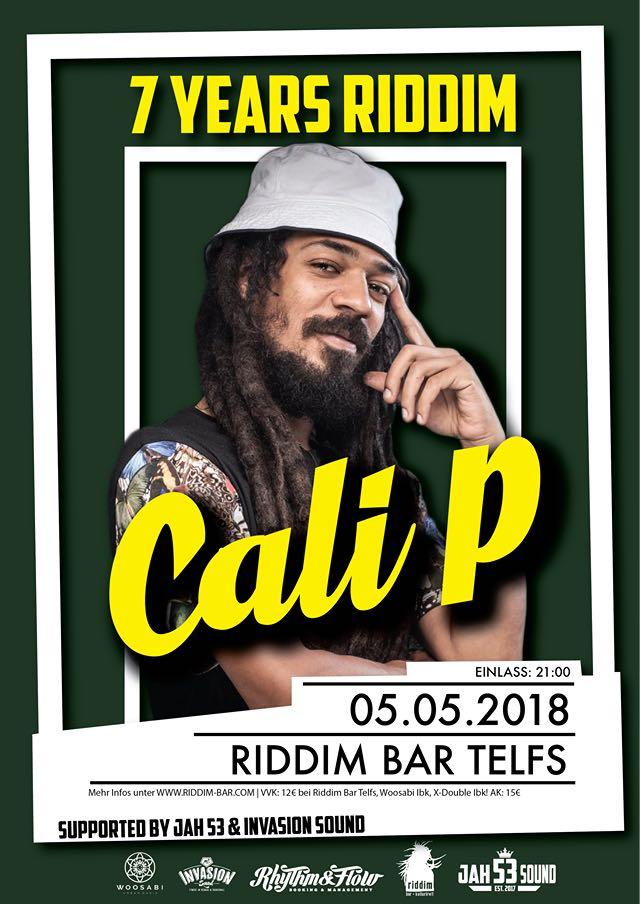 CALI P @ AT - Telfs - Riddim Bar | Telfs | Tyrol | Austria