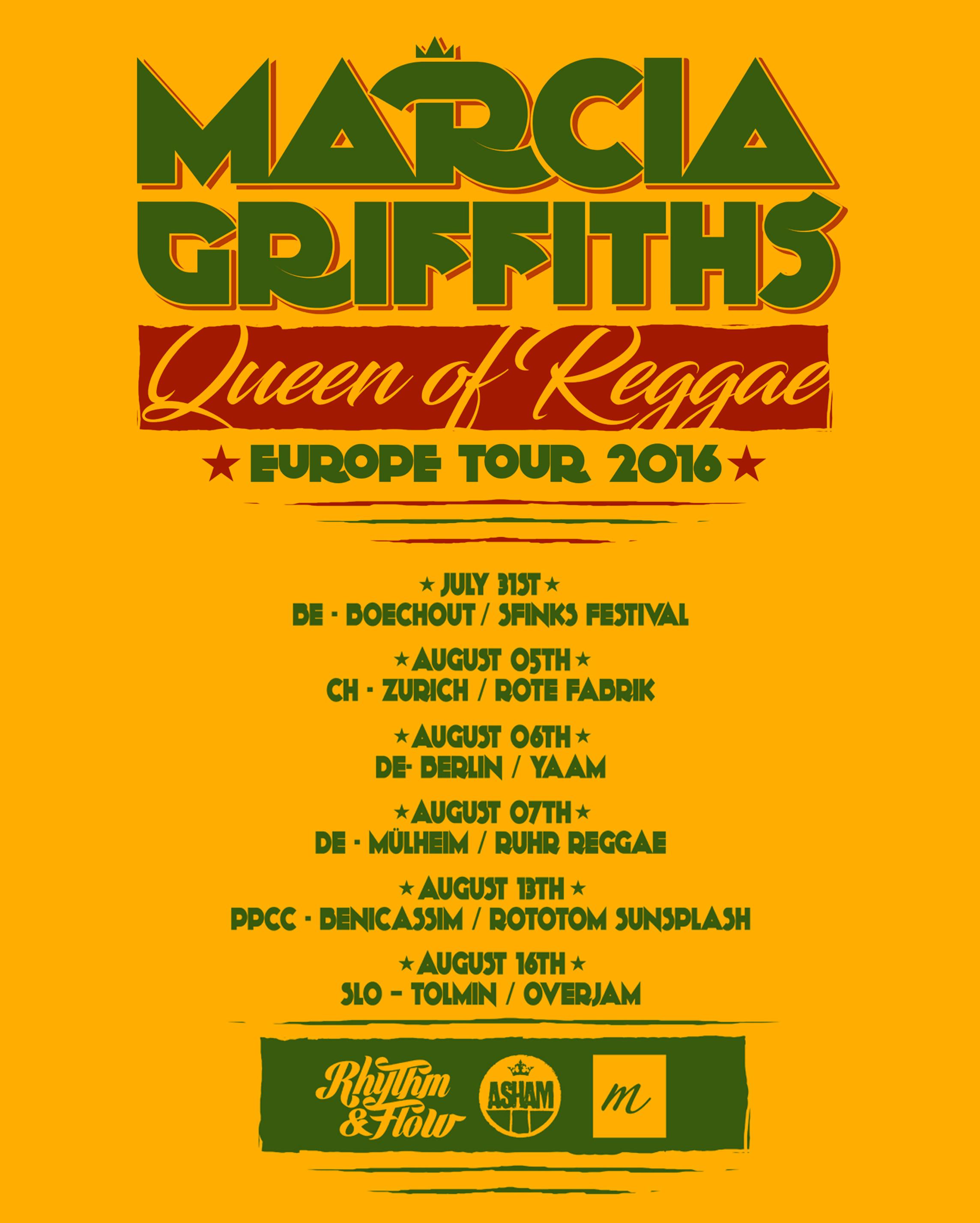 QUEEN OF REGGAE – EUROPE TOUR 2016