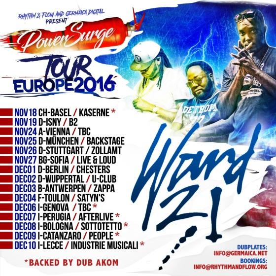 TOUR EUROPE 2016
