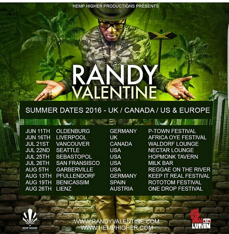 SUMMER DATES 2016 UK/CANADA/US/EUROPE