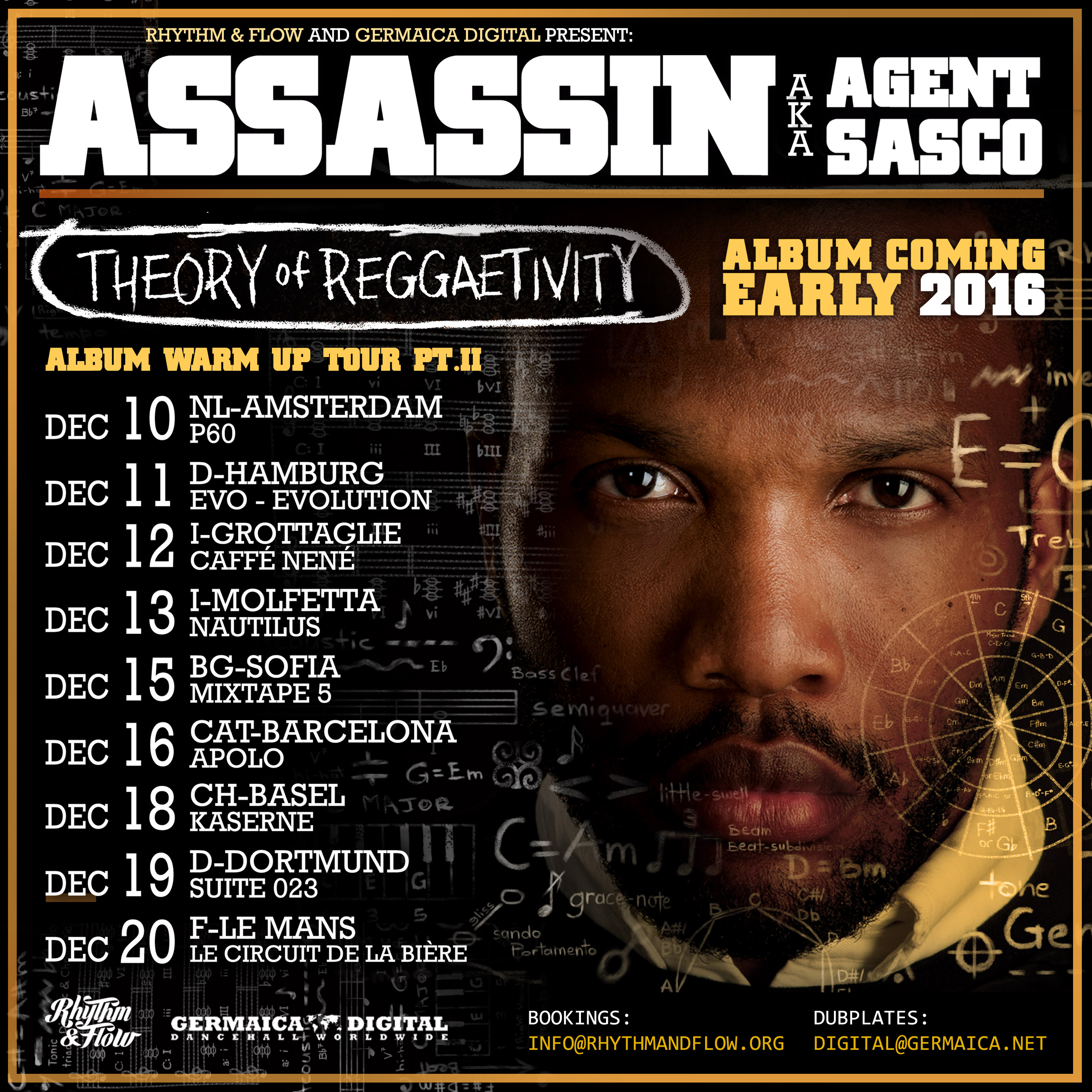 THEORY OF REGGEATIVITY – ALBUM COMING EARLY 2016 – ALBUM WARM UP TOUR PT. II
