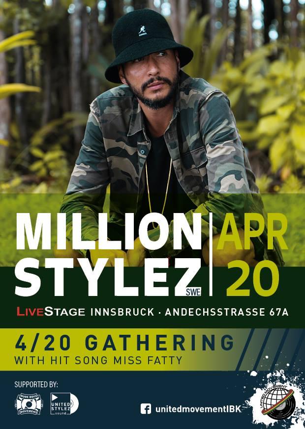 MILLION STYLEZ @ AT - Innsbruck - Live Stage | Innsbruck | Tyrol | Austria
