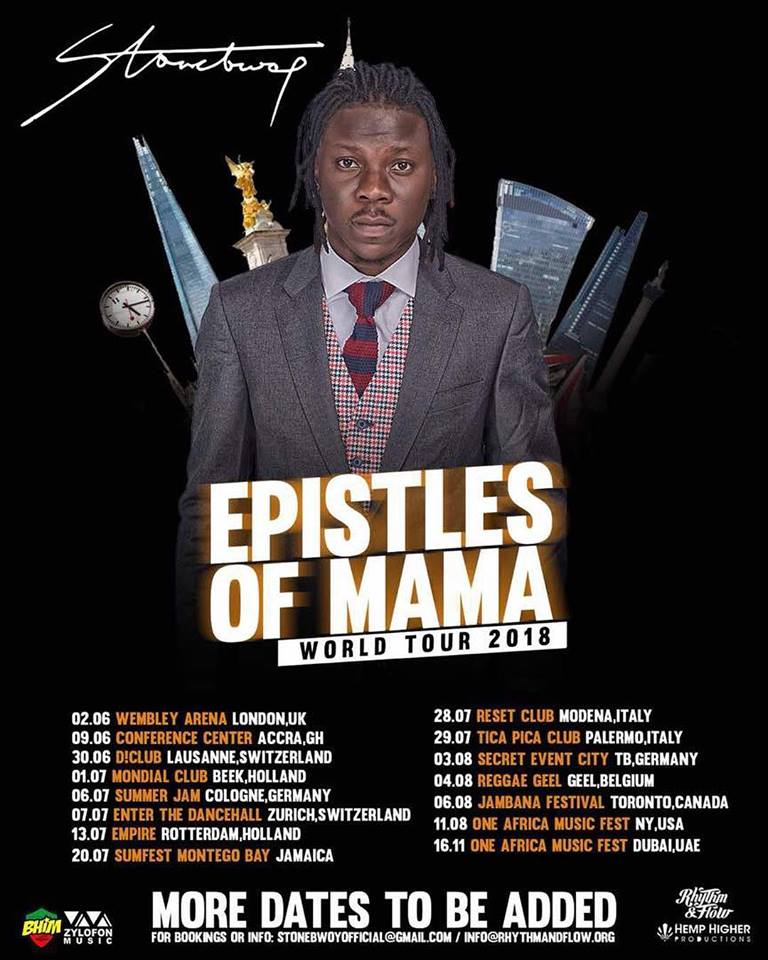 EPISTLES OF MAMA WORLD TOUR 2018