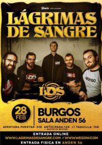 LÁGRIMAS DE SANGRE @ ES - Burgos - Andén 56